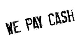 We Pay Cash rubber stamp Royalty Free Stock Photo