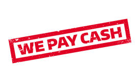 We Pay Cash rubber stamp Royalty Free Stock Image