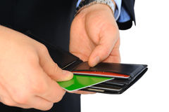 Pay with credit card Royalty Free Stock Photos