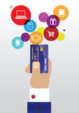 Pay with credit card. Hand holding a credit card  image Stock Photos