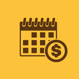 The pay day icon. Tax and payment, dividends symbol. Flat Royalty Free Stock Image