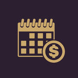 The pay day icon. Tax and payment, dividends symbol. Flat. Vector illustration Stock Images