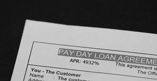 Pay day Loan Royalty Free Stock Image