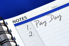 Pay day of the month. Today is the pay day of the month Royalty Free Stock Photography