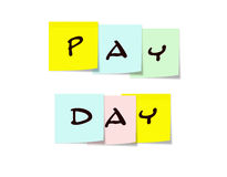 Pay Day Sticky Notes Stock Photography