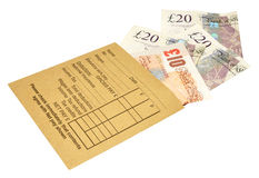 Pay Day Wages stock image