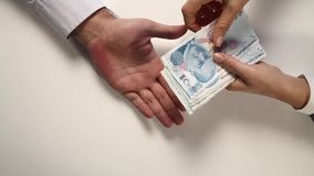 Pay The Debt - Turkish Lira Version -. Paying the debt with Turkish Lira stock footage