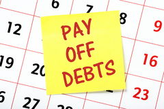 Pay Debts Reminder Royalty Free Stock Images