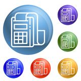 Pay device icons set vector royalty free illustration