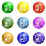 Pay device icons set vector vector illustration