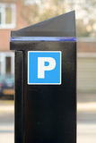 Pay and display parking meter Royalty Free Stock Photos