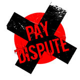 Pay Dispute rubber stamp Stock Photography