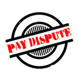 Pay Dispute rubber stamp Stock Images