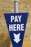 Pay Here Sign Stock Photos