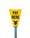 Pay here Royalty Free Stock Photos