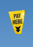 Pay here sign, isolated Royalty Free Stock Images