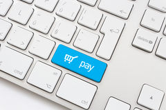 Pay key with trolley icon Stock Image