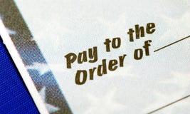 âPay a la orden Ofâ Foto de archivo