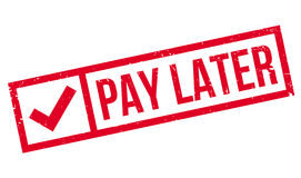 Pay Later rubber stamp Stock Photo