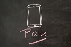 Pay by mobile Stock Photo