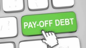 Pay off debt online. Concept render illustration Stock Image