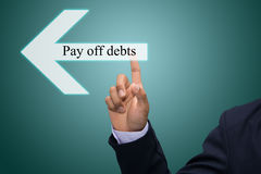 Pay off debts Stock Image