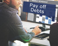 Pay Off Debts Loan Money Bankruptcy Bill Credit Concept Royalty Free Stock Image