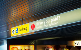 Pay for parking sign Royalty Free Stock Image