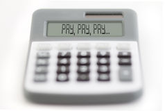Pay, pay, pay Stock Images
