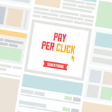 Pay per click advertising Stock Photos