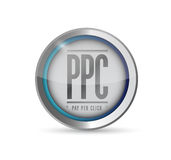 Pay per click button illustration design Stock Image
