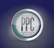 Pay per click button illustration design Royalty Free Stock Image