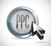 Pay per click button illustration design Royalty Free Stock Photo