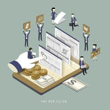 Pay per click concept Royalty Free Stock Photo