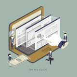 Pay per click concept Stock Images