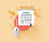 Pay per click concept illustration Royalty Free Stock Photo