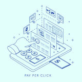 Pay per click concept illustration Stock Photo