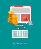 Pay per click concept illustration Stock Photography