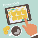 Pay per click concept illustration Royalty Free Stock Photos