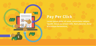 Pay Per Click Design Concept Style Stock Photo