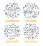 Pay Per Click Doodle Illustrations Stock Photos