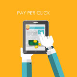 Pay Per Click Flat Concept for Web Marketing. Royalty Free Stock Photos