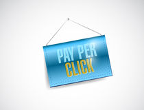 Pay per click hanging banner Royalty Free Stock Images