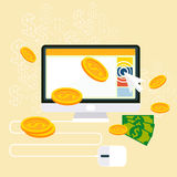Pay per click internet advertising model Stock Photos
