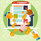 Pay per click internet advertising model Royalty Free Stock Photo