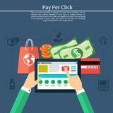 Pay per click internet advertising model Stock Images