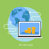 Pay per click internet advertising model Royalty Free Stock Images