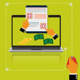 Pay, per, click, internet, concept, vector illustration in flat style for web Stock Image