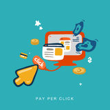 Pay per click invert Royalty Free Stock Images