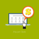 Pay Per Click Laptop Royalty Free Stock Photography